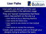 user paths