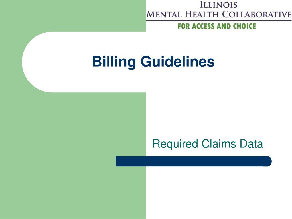 Billing Guidelines