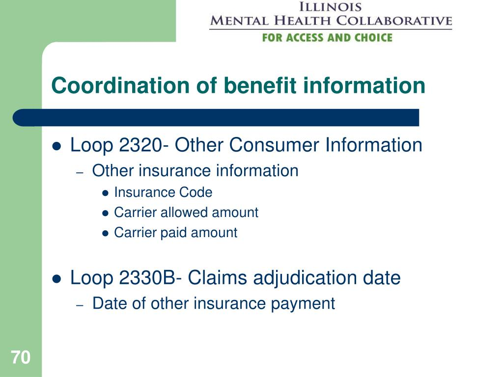 Coordination of benefit information