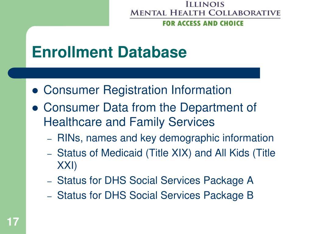 Enrollment Database