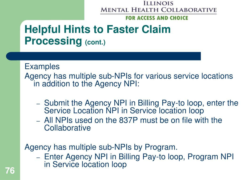 Helpful Hints to Faster Claim Processing