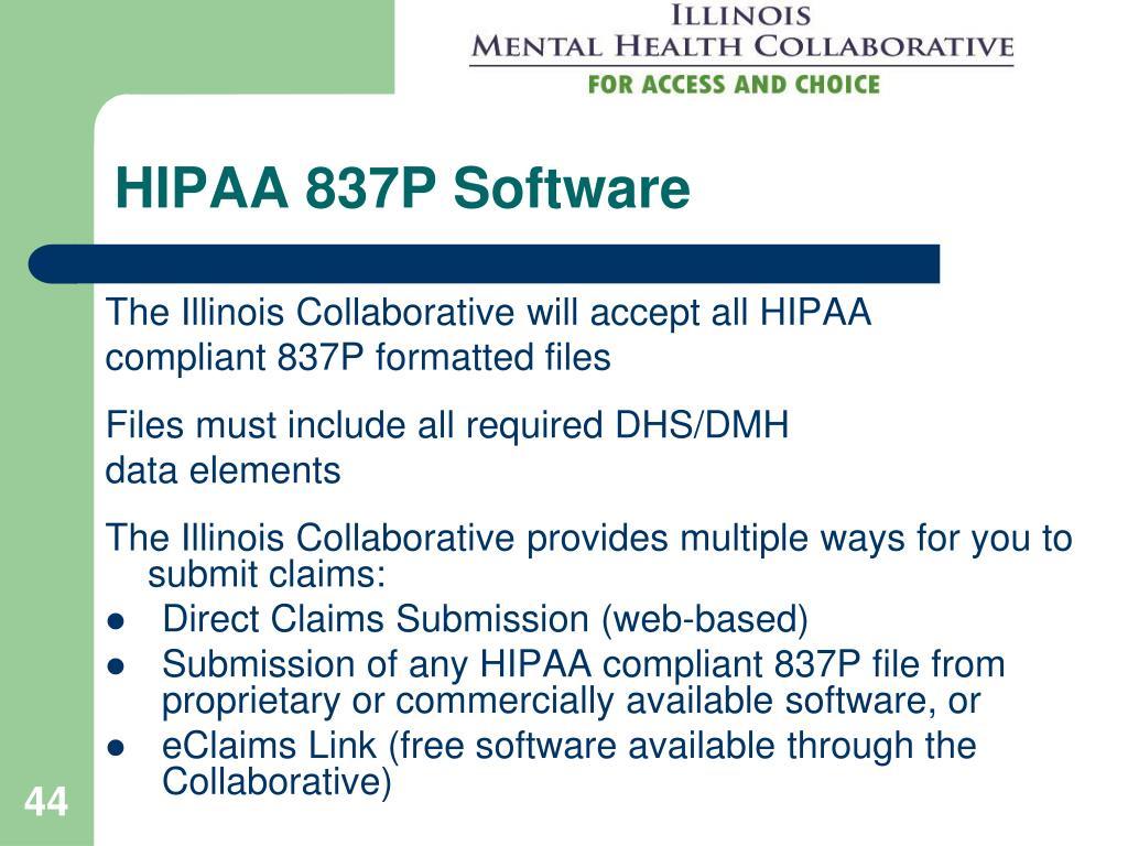 HIPAA 837P Software