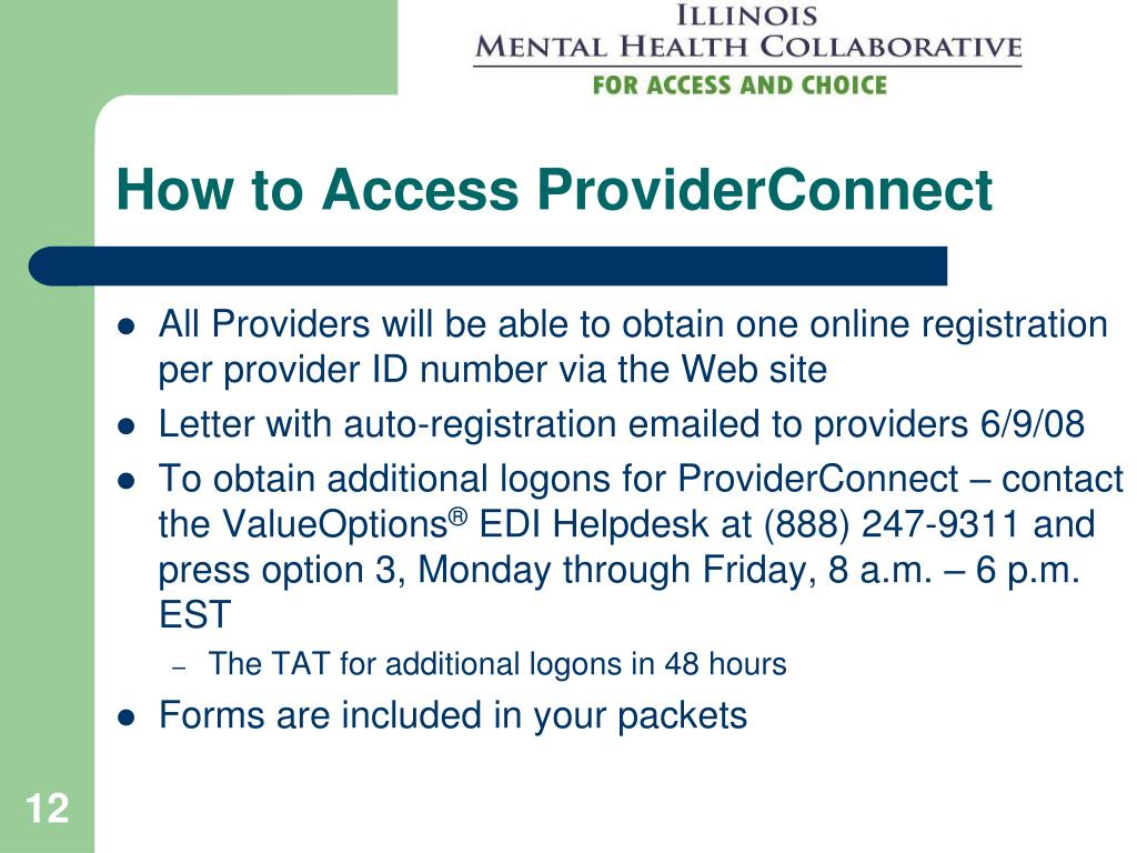 How to Access ProviderConnect