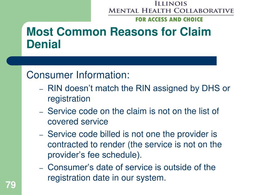 Most Common Reasons for Claim Denial