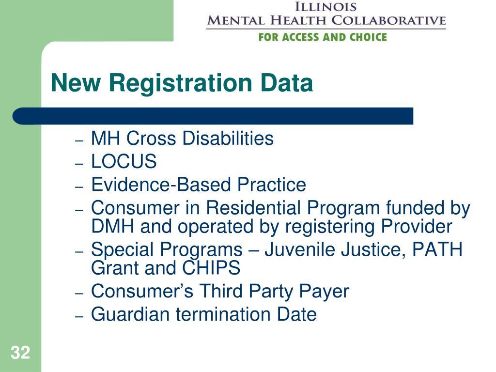 New Registration Data