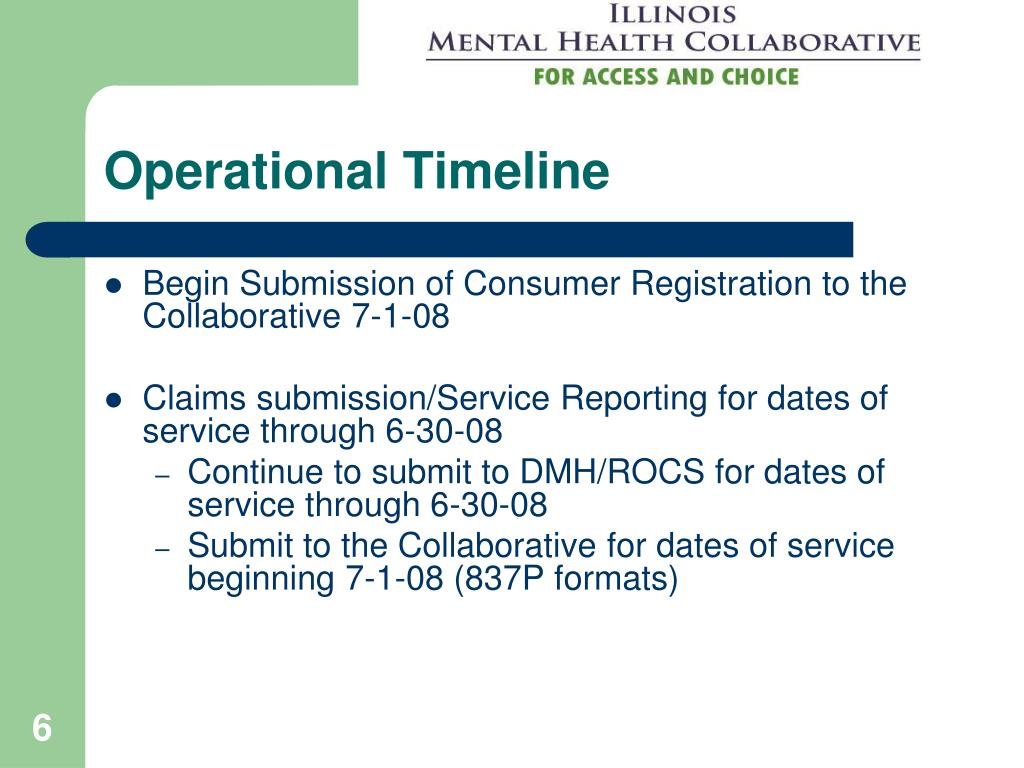 Operational Timeline