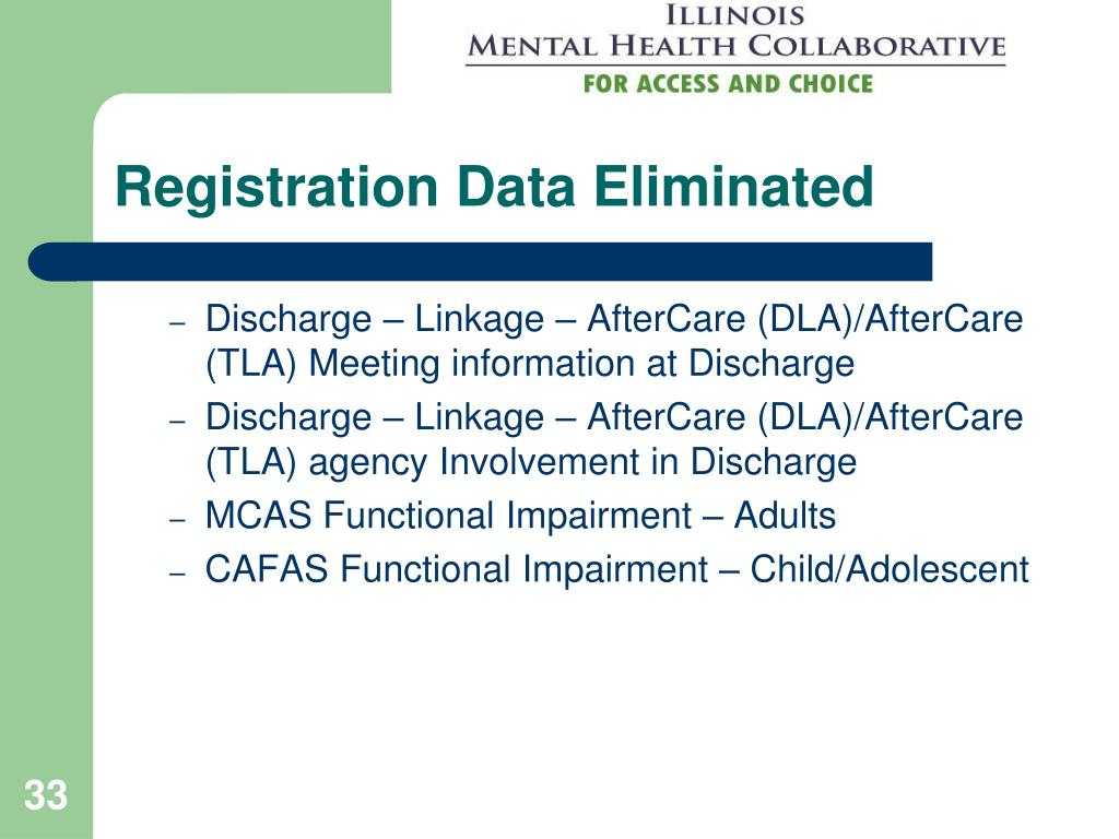 Registration Data Eliminated