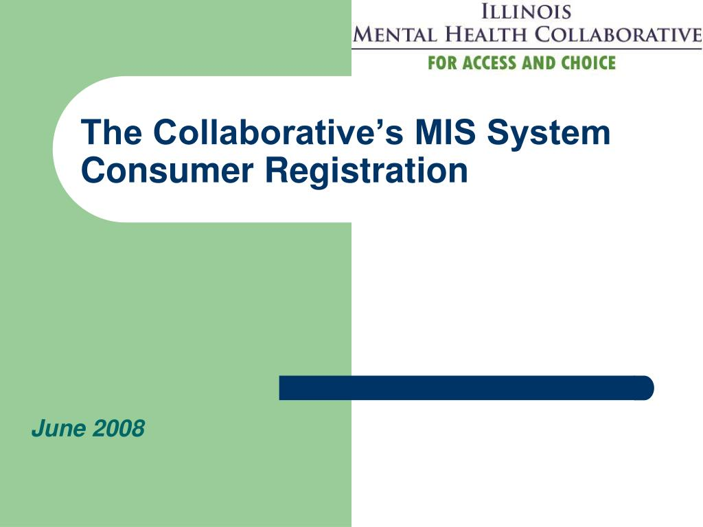 The Collaborative's MIS System Consumer Registration