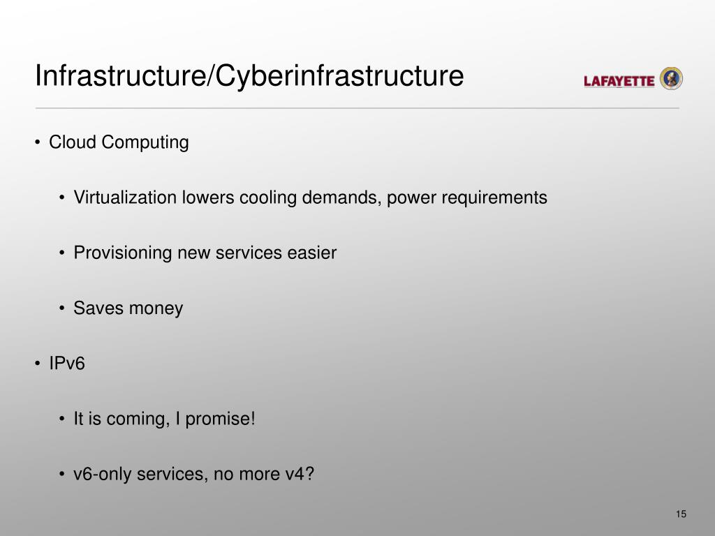 Infrastructure/Cyberinfrastructure