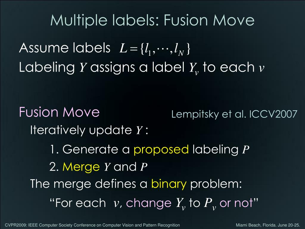 Multiple labels: Fusion Move