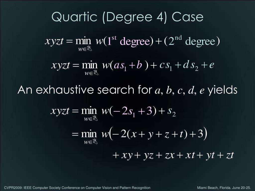 Quartic (Degree 4) Case