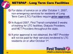 netspap long term care facilities