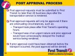 post approval process