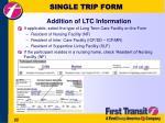 single trip form22