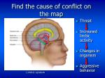 find the cause of conflict on the map