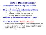 how to detect problems