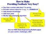 how to make providing feedback very easy31