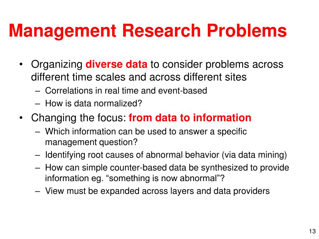 Management Research Problems