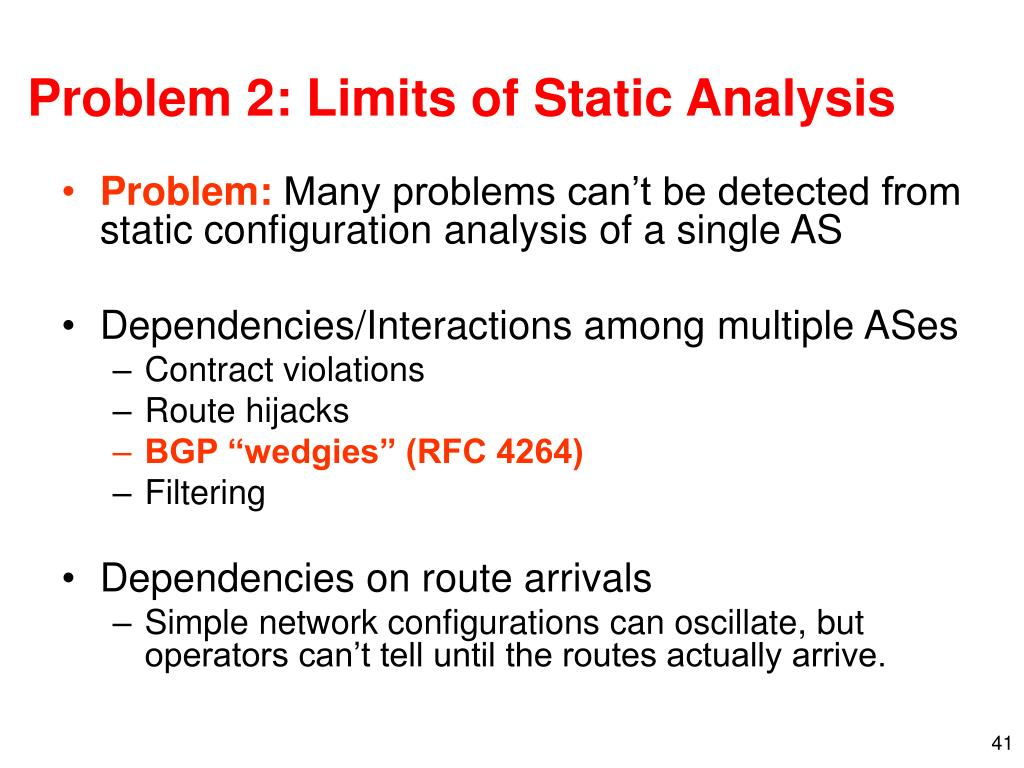 Problem 2: Limits of Static Analysis