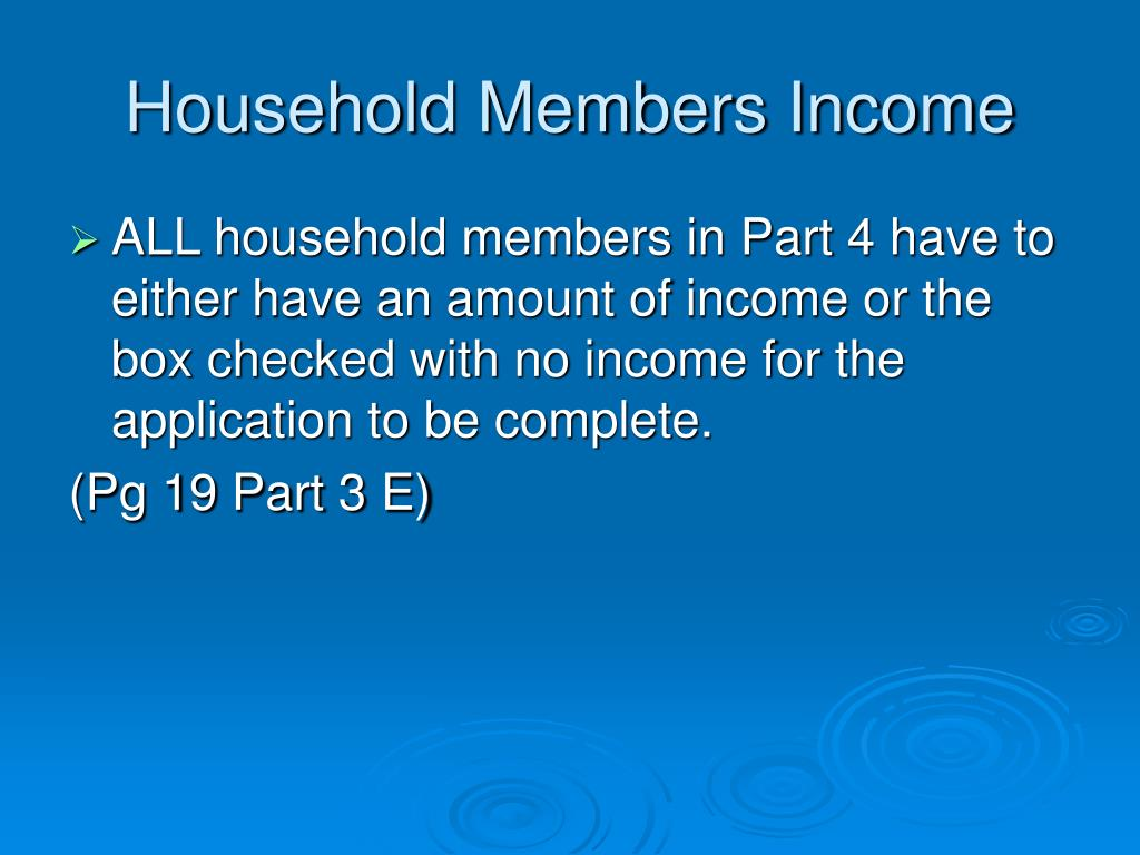 Household Members Income