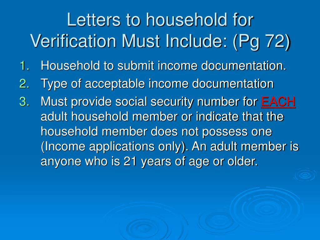 Letters to household for