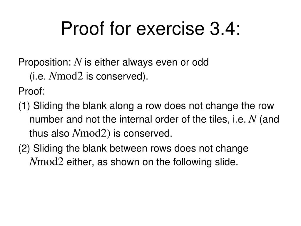 Proof for exercise 3.4: