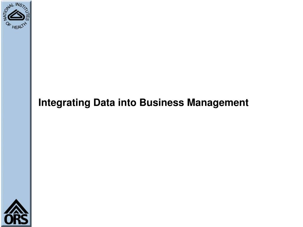 Integrating Data into Business Management