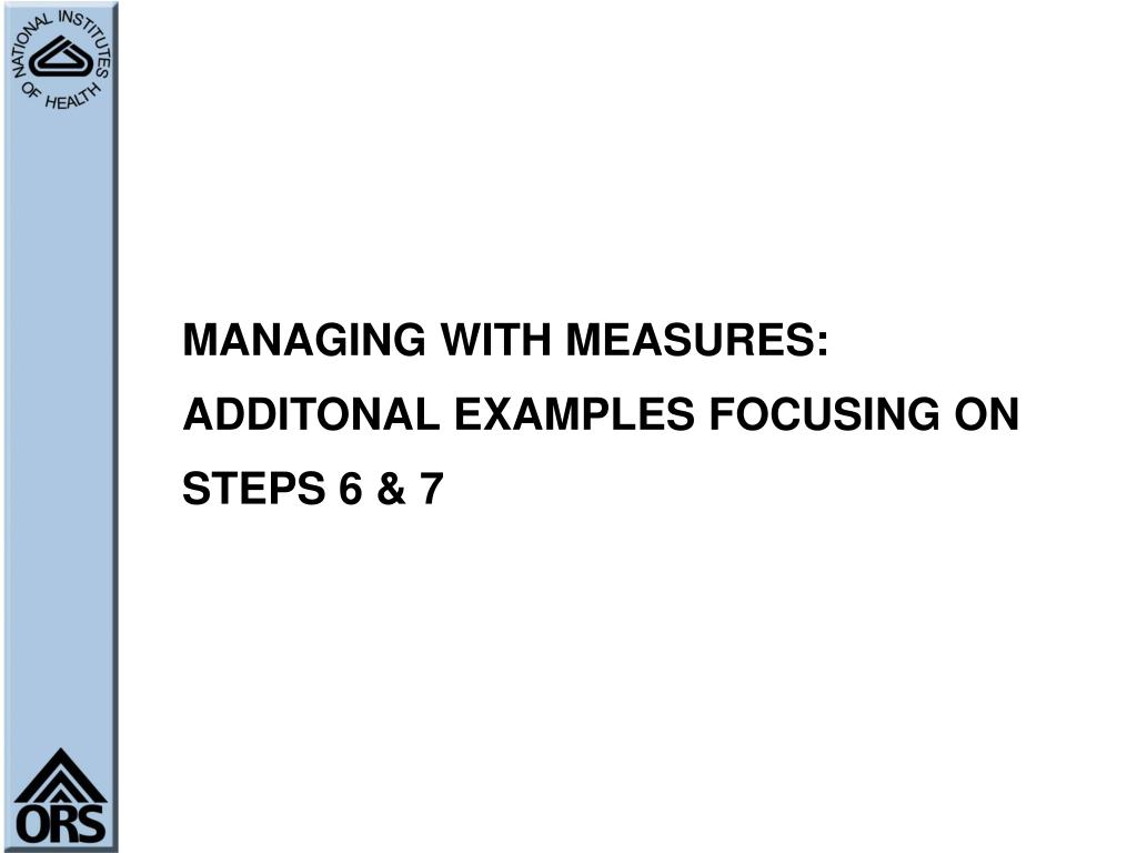 MANAGING WITH MEASURES: