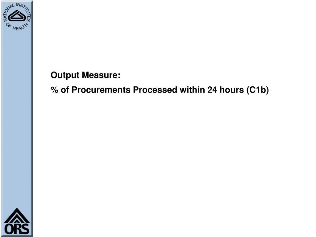 Output Measure: