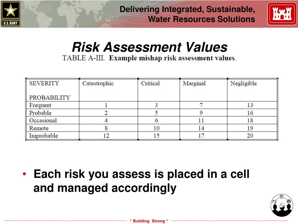 Risk Assessment Values