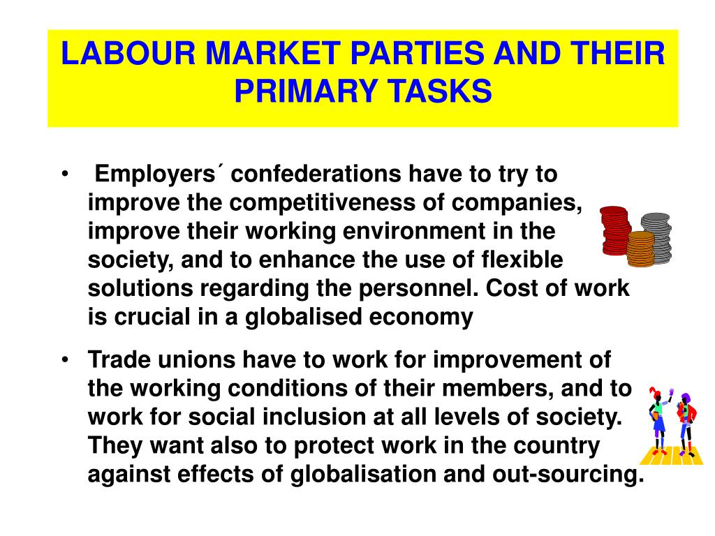 LABOUR MARKET PARTIES AND THEIR PRIMARY TASKS
