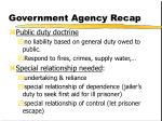 government agency recap
