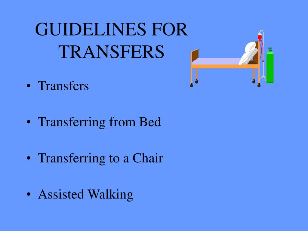 GUIDELINES FOR TRANSFERS