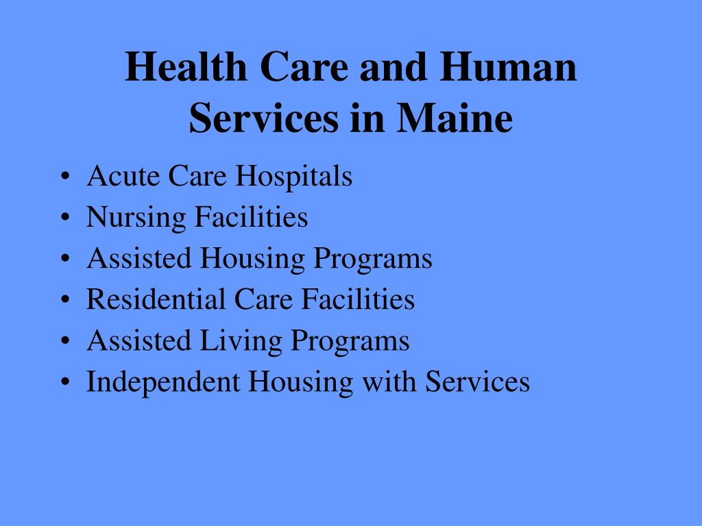 Health Care and Human Services in Maine