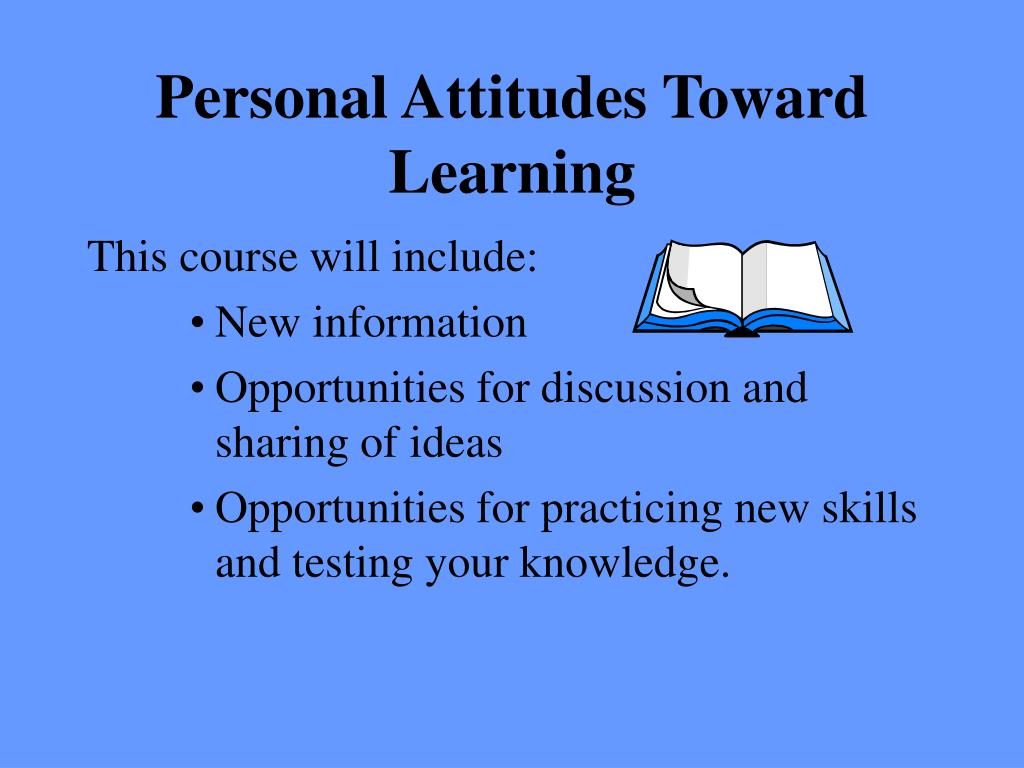 Personal Attitudes Toward Learning