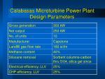 calabasas microturbine power plant design parameters