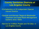 county sanitation districts of los angeles county