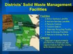 districts solid waste management facilities