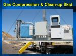 gas compression clean up skid
