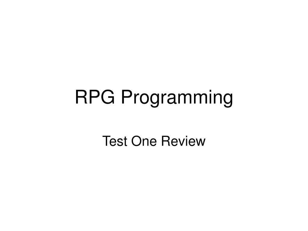 RPG Programming