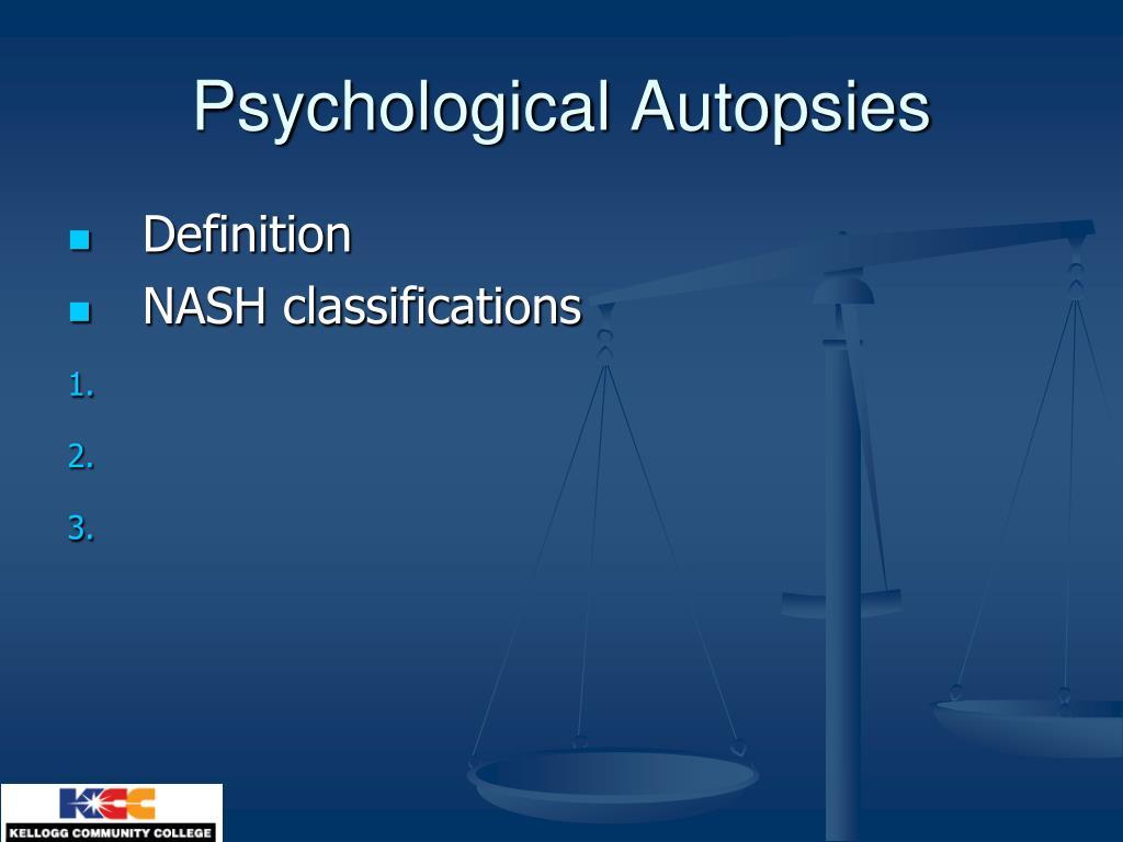 Psychological Autopsies