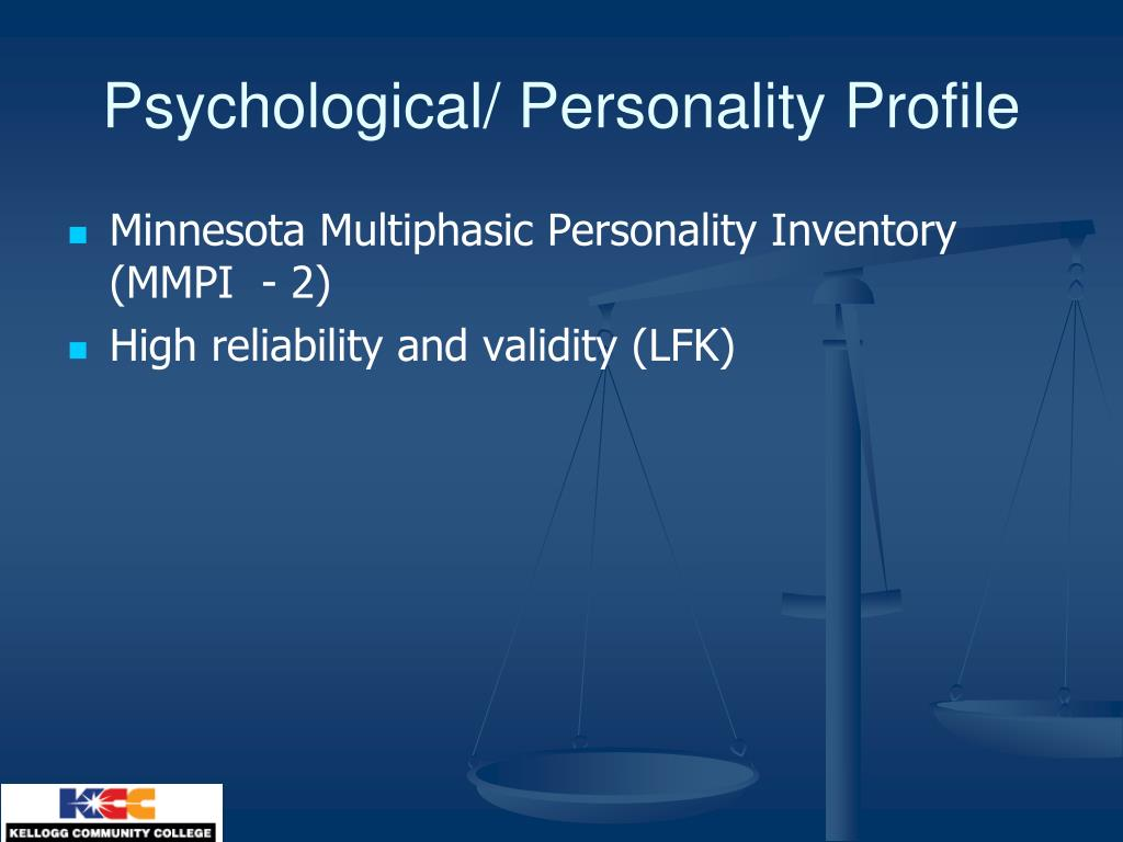 Minnesota Multiphasic Personality Inventory (MMPI  - 2)