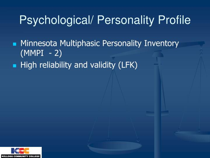 Psychological personality profile