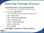 sakai app package structure