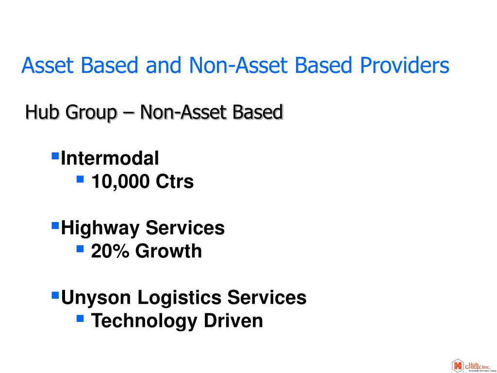 Asset Based and Non-Asset Based Providers