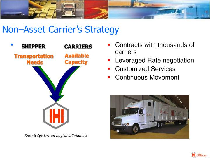 Non asset carrier s strategy