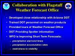 collaboration with flagstaff weather forecast office