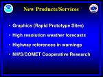 new products services