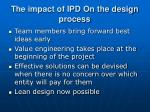the impact of ipd on the design process