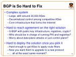 bgp is so hard to fix